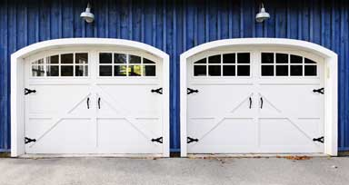 Plain Glass Garage Door